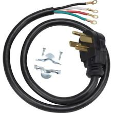 2 Pack  4 ft  4 Prong 30 Amp Dryer Cord