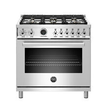 Bertazzoni 36  Freestanding Dual Fuel Range w  Electric Self Cleaning Oven