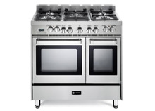Verona VEFSGE365NDSS 36  Dual Fuel Range w  Double European Convection Ovens
