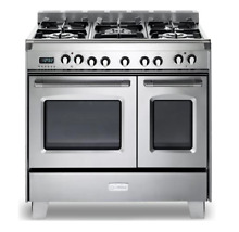 Verona VCLFSGE365DSS 36  Freestanding Dual Fuel Double Oven Gas Range