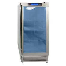 Maxx Ice 14 5  OUTDOOR Built In Undercounter Glass Door Beverage Center Cooler