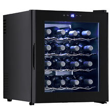 16 Bottles Wine Cooler Fridge Bar Rack Cellar Storage Cabinet Holder Chiller