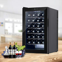 28 Bottles Thermal Electric Wine Cooler Fridge Bar Rack Cellar Cabinet Chiller