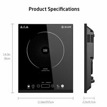 Portable Induction Cooktop 1800W Sensor Touch Electric Cooker with Kids Safety