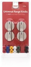 New Smart Choice Universal Gas Electric Range Knobs Steel Silver Adapters 4 Kit
