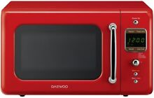 New Daewoo Retro Red Countertop Microwave 0 7 cu ft 700 Watt Kitchen Food Oven