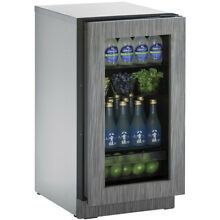U Line 18  Panel Integrated 2000 Series Glass Door Refrigerator 2218