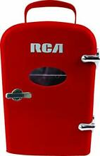 Red Retro Beverage Fridge Mini Refrigerator Cold Drinks Cooler Chiller Small NEW