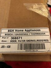 Genuine OEM Thermador Downdraft Vent Door Filter Snorkel 368671