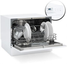 Kitchen Portable Countertop Dishwasher Stainless Steel w  6 Place Settings White