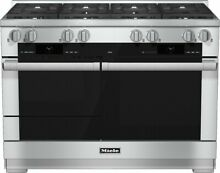 Miele M Touch Series HR1954DF 48 Inch Pro Style Dual Fuel Range 8 Burners