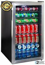 Commercial Beverage Cooler Refrigerator Mini Fridge with Glass Door Perfect Soda