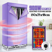 900W Hot Air Clothes Dryer Electric Drying Machine Home Indoor Hanger 220V NEW