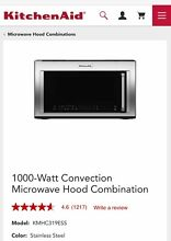 KitchenAid  Over The Range  Microwave Convection Oven 1000 watts