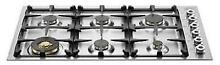 Bertazzoni Professional Series 36  6 Burners Stainless Gas Cooktop QB36600X