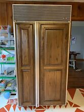 Sub Zero Refrigerator Freezer 42  Side by Side Custom Panel Panel Ready 642 F
