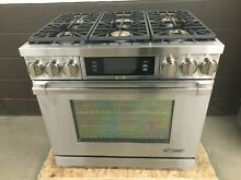 Dacor DYRP36DS NG Discovery PRO Dual Fuel Gas Range 6 Burner Stainless