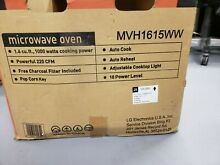 LG MVH1615WW 1 6 cu  ft  1000 Watts Over The Range Microwave Oven in White