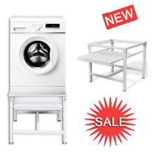 Washing standard Machine Machine Pedestal with Pull Out Shelf Steel Laundry US