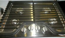 Whirlpool 30 inch Gas Cooktop Stainless Steel Cast Iron Grates WCG51US0DS