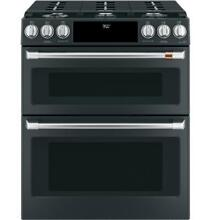 GE Cafe 30  Dual Fuel Double Oven Range w  Convection Matte Black NEW