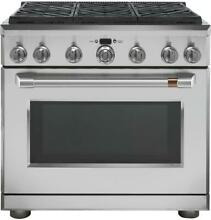 GE Cafe 36  Stainless Steel Professional 6 Burner Gas Range NEW