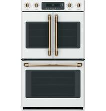 GE Cafe 30  Built In French Door Double Convection Wall Oven Matte White NEW