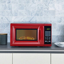 Microwave Oven 700 Watt LED Display High Quality Construction Durable NEW RED