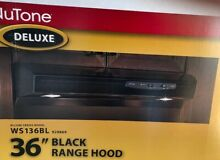 Broan Nutone Deluxe Allure Series WS136BL 36  Range Hood   Black   NEW