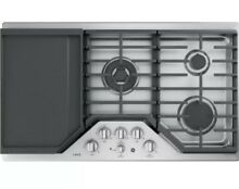 Brand New GE Caf  Series 36  Stainless Steel Gas Cooktop CGP9536SLSS w  Griddle