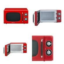 Retro 0 7 cu  ft  Countertop Microwave in Red