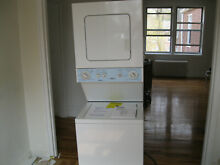24  KENMORE COMBINATION ELECTRIC DRYER ON TOP OF WASH MACHINE LAUNDRY CENTER SET