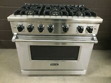 Viking 36  Range VGR5366BSS 5 Series Professional 6 Burner All Gas