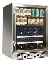 NewAir AWB 400DB Dual Zone Beverage Cooler Built In Stainless Steel Refrigerator