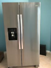 Whirlpool WRS325FDAM 35 9  25 4 cu ft Side by Side Refrigerator Stainless Steel