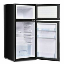 Double Doors 3 4 cu ft  Unit Compact Mini Refrigerator Freezer Cooler Fridge