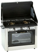 Double Burner Propane Gas Range And Stove Outdoor Built In Oven Heat Gauge New