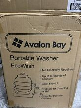 Avalon Bay EcoWash Portable Manual Washing Machine Hand Crank Clothes Washer
