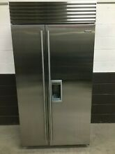Sub Zero BI 42SD S TH   42  Side by Side Built In Refrigerator Freezer Stainless