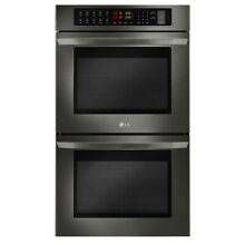 LG Self Cleaning 30  Convection Double Wall Oven LWD3063BD Black Stainless