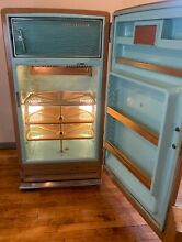Awesome GE Mid Century Modern Refrigerator Caramel Teal Copper Lazy Susan MCM
