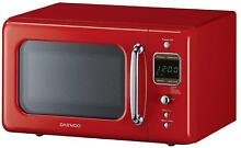 Microwave Oven Retro Vintage Kitchen Cooking 0 7 Cu 700W Daewoo RED Countertop