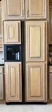 36  GE Freestanding Counter Depth Black Side by Side Refrigerator with Ice Maker