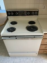 Used GE 30  White Electric Range
