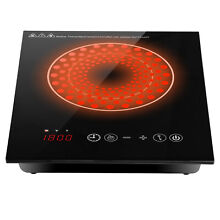 Home Kicthen Induction Cooktop Countertop Burner Digital Touch Control Timer