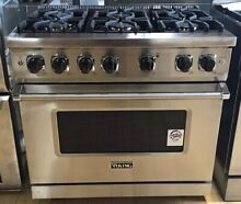 Viking Professional 5 Series VGR5366BSS 36 Inch Pro Style Gas Range 6 Burners