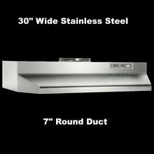 Over The Stove Range Hood Ducted Stainless Steel 30  under Kitchen Cabinet Fan