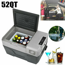 50L 52QT Portable Mini Freezer Compressor Fridges Outdoor Car Cooler Freezer 12V