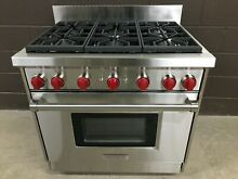 Wolf GR366   36  Professional Gas Range Stove 6 Burners Stainless Steel
