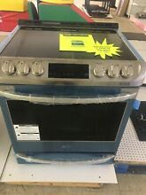 LG Electronics Slide in Electric Range Probake Convection Oven Stainless Steel